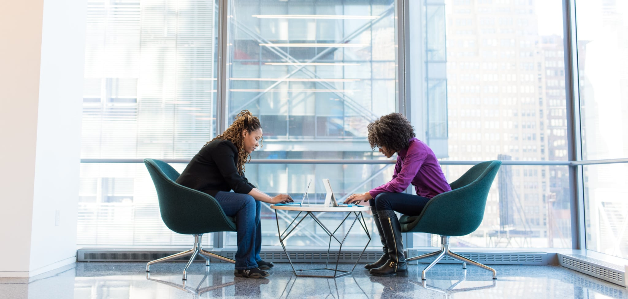 Two woman in a business meeting